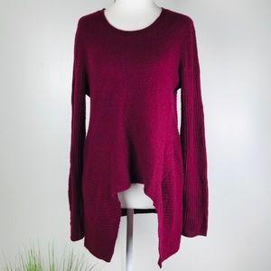 Neiman Marcus 100% Cashmere Cranberry Sweater Sz S